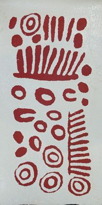 Wintjiya Napaltjarri, Untitled, 2012, acrylic on Belgian linen, 91 x 46 cm. Scott Livesey Galleries.