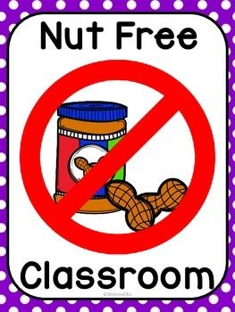 I have several students with peanut and tree nut allergies. I want to keep all my friends safe so I made this sign to post outside my door to remind visitors not to send in foods that contain nuts. Please consider leaving feedback for this FREEBIE.  Be sure and follow my TPT store to be notified of additional freebies, sales and updates!