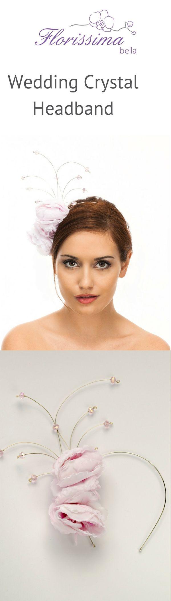 Trendy bridal headpiece - Wedding Headband With Crystals