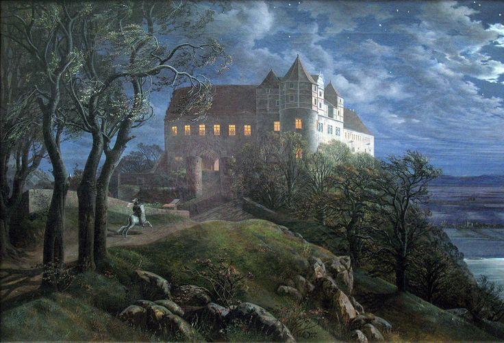 Schloss Scharfenberg (1827), Gemälde von E. F. Oehme