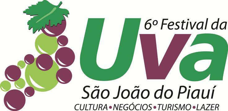 Logomarca VI Festival da Uva São João do Piauí 2016 - Cliente Gov. Do Piauí