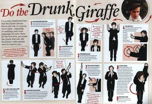 The Doctor doing the Drunk Giraffe dance XD