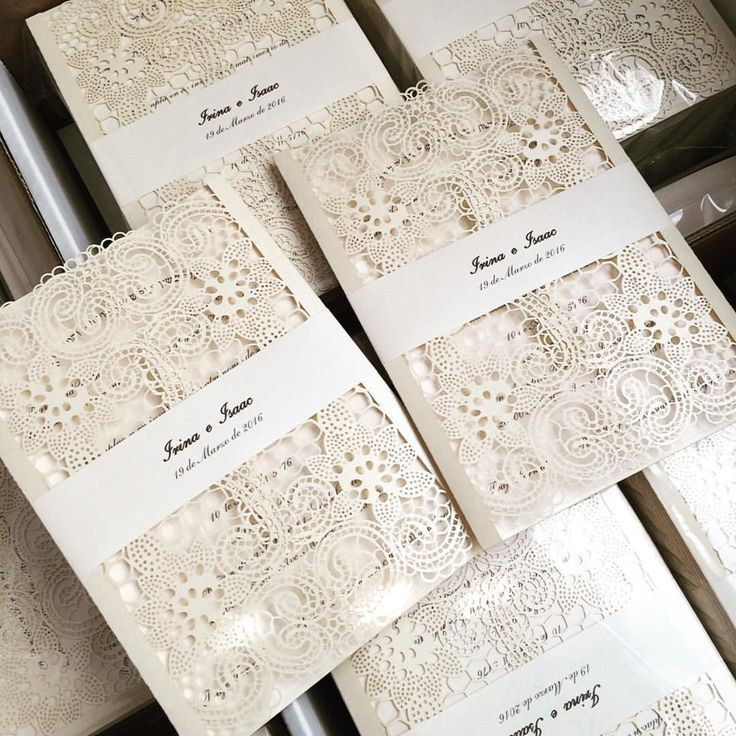 vintage doily wedding invitations%0A Vintage lace inspired laser cut invites ready for shipment    weddinginspiration  weddingideas  love