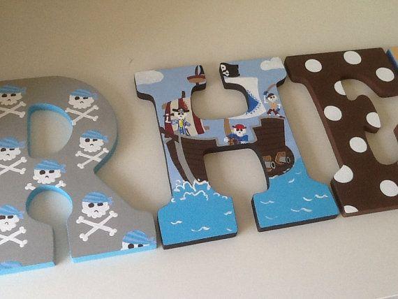 Custom Painted Children's Letters Circo por SophiasRosieRoom
