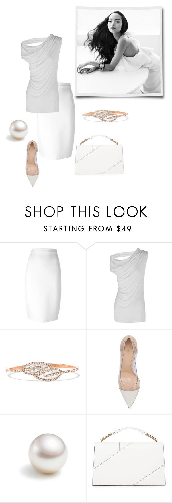 """white on white"" by sensual-spirit on Polyvore featuring Givenchy, Rick Owens, Anita Ko, Gianvito Rossi and Jason Wu"