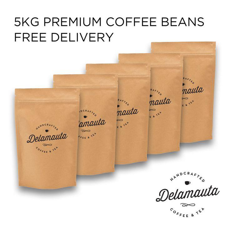 100% Fresh coffee beans (5 x 1kg) PREMIUM ESPRESSO