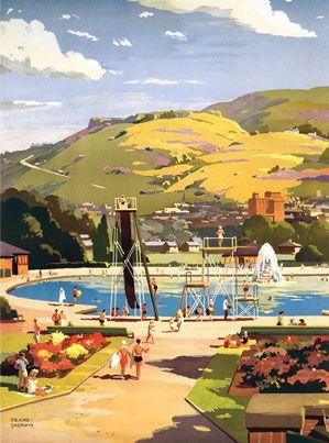 Ilkley open air swimming pool