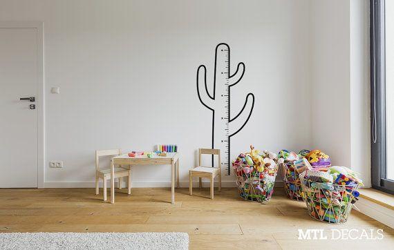 Decalcomanie da muro di cactus crescita grafico / di mtldecals
