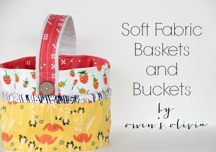 Fabric Easter Basket and Bucket tutorial #FabricBasketTutorial