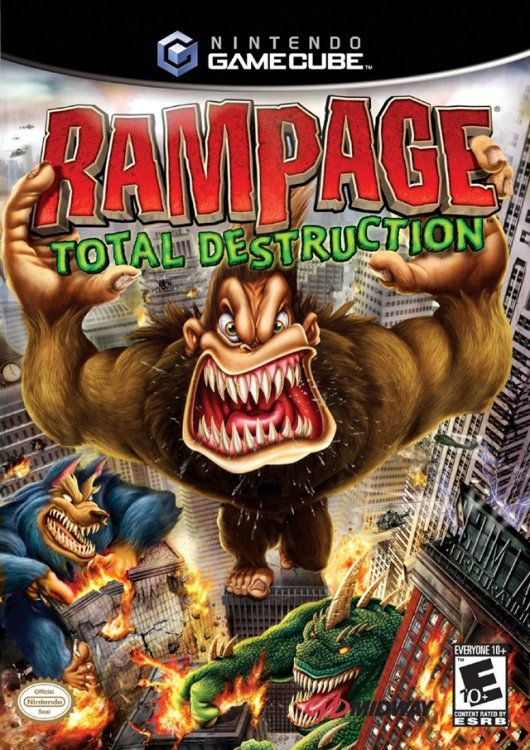 Rampage Total destruction was another one of my favorite video games when I was a kid because I remember when i always used to rent it from Block Buster and crushing my brother in it.