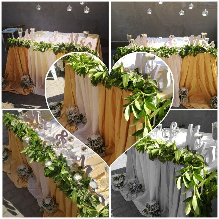 Kerti esküvő!  #főasztal #esküvő #dekoráció #zöld #gyertya #mrsandmrs #alexandraeskuvo