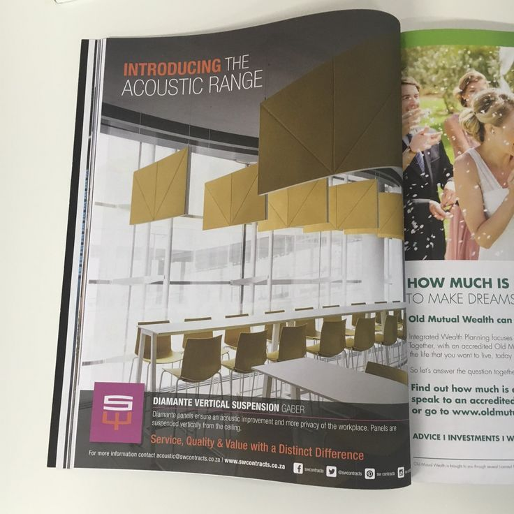 Our Acoustic advert in this month's VISI magazine. #acoustic #gaber #swcontracts #furniture #johannesburg #capetown