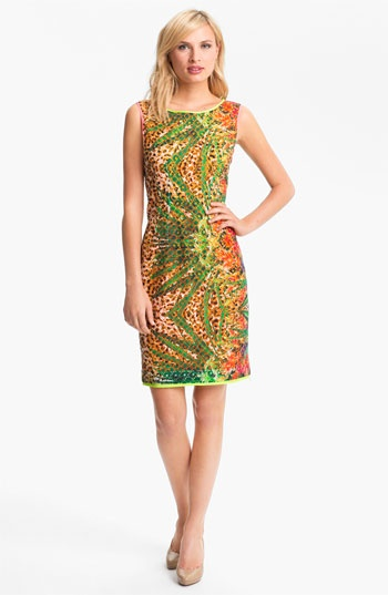 Elie Tahari 'Claudia - Tropical Leopard' Dress available at Nordstrom