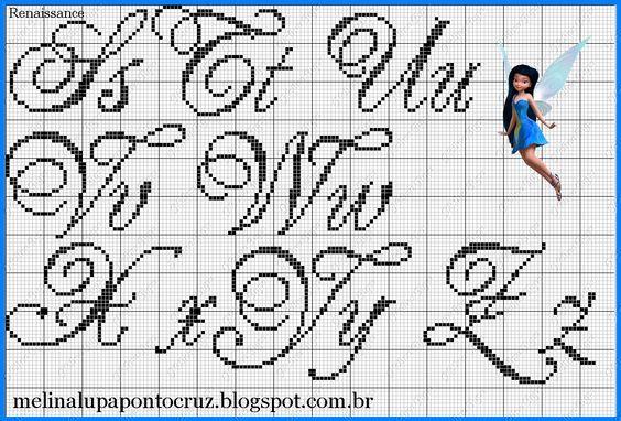 Ateliê Ponto & Patch: Monogramas ou Alfabetos em Ponto Cruz: