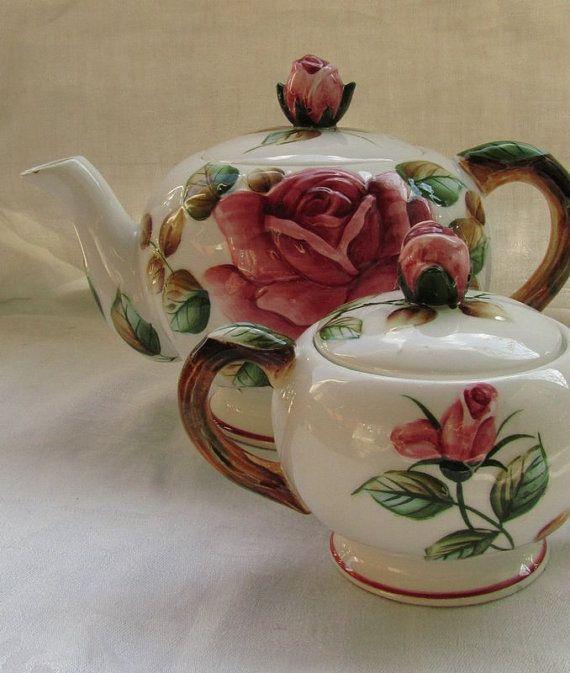 Japan+Roses+Tea+Service+11+pieces++//+Luncheon+by+dajaxsUrbanAttic,
