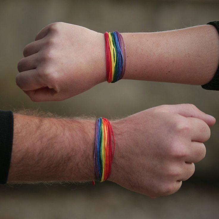 Friendship Rainbow Pride Bracelet Macrame Gay by MacrameBrazilian