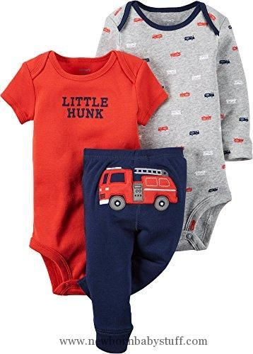 Baby Boy Clothes Carter's Baby Boys 3 Pc Back Art 126g347, Navy, 6 Months