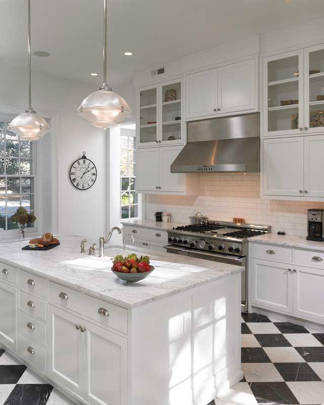 Click Interiores | Piso Xadrez na Cozinha