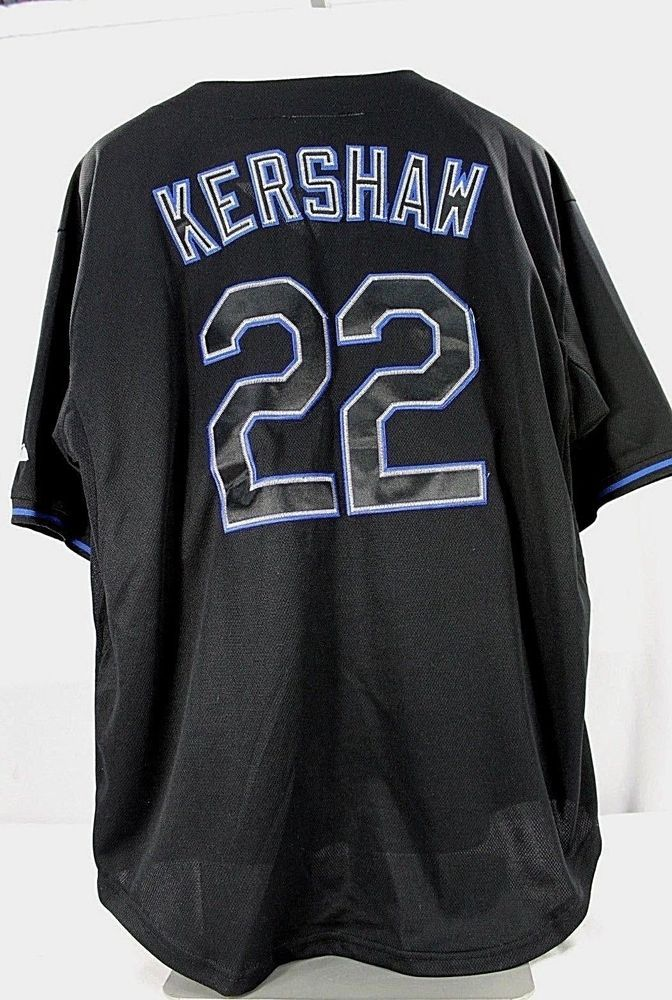 8ca4a99f2 Los Angeles Dodgers  22 Clayton Kershaw Majestic Black 52 Stitched  Majestic   LosAngelesDodgers