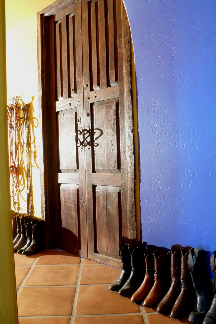 Mexican Antique Doors Open Into Office