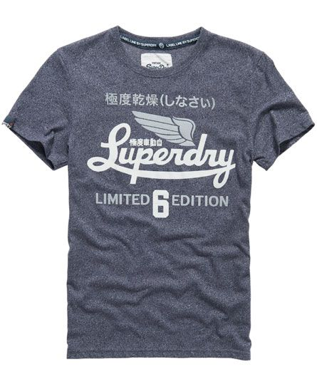 Mens - Icarus Limited T-shirt in Midnight Jaspe | Superdry