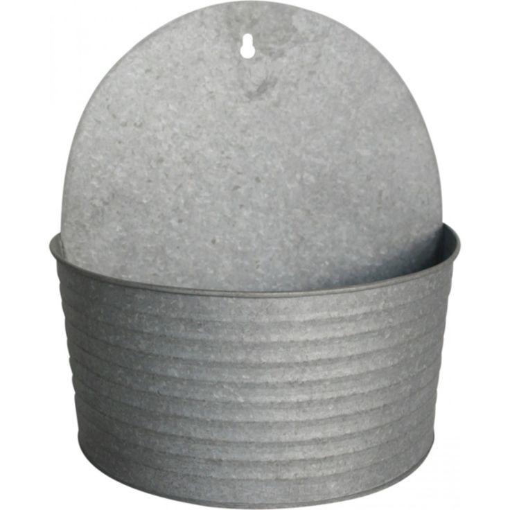 Veggpotte Crewe 25cm grå