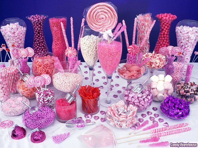 Pink Candy Buffet    An extravagant burst of pink candy puts your party or event totally over the top
