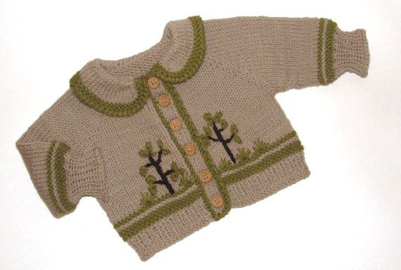 Cardigan  baby for boy winter jacket for boy by iziknittings, $32.00