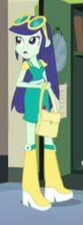 Size: 105x284   Tagged: bag, blueberry cake, boots, cropped, equestria girls, friendship games, glasses, high heel boots, lockers, mirror, open mouth, safe, screencap, solo