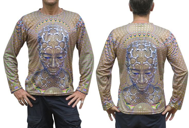 """Sublime L/S T : Micro Macro Fully printed long sleeve T shirt. This shirt is an """"All Over"""" printed T shirt that will really grab people's attention. The design is printed using sublimation printing on a high quality polyester / Dri-Fit blended shirt. This allows for extremely vibrant colors that will never fade away no matter how many times it gets washed, & results in an extremely soft """"feel"""" to the shirt, providing ultimate comfort. Fabric is 100% Polyester/Drifit. Artwork by Luminokaya"""