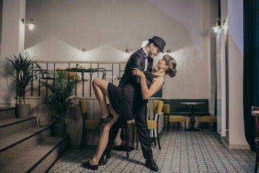 Photoshoot in Dobre&Dobre, suits by Lombardi Fashion House. Swing, vintage, fashion, 1940, photo by Martin Haburaj.