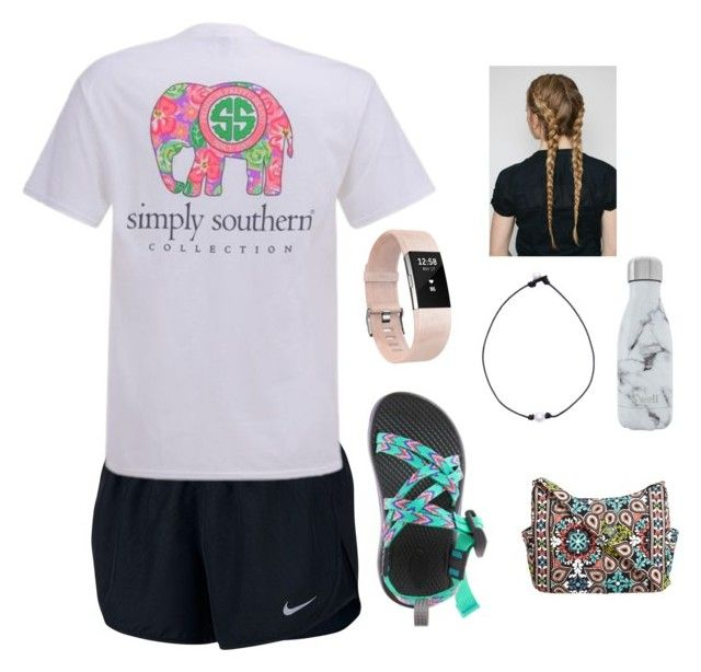 """""""How to wear Amusement Park Outfits"""" by thebeanlandes on Polyvore featuring NIKE, Fitbit, S'well and Vera Bradley"""