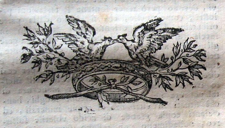 """Frammenti #61 - Fregi, marche tipografiche, incisioni, capilettera, testatine, ex libris, particolari di opere rare ed antiche. #libriantichi #antiquebooks #incisioni #engravings. Studio bibliografico """"Amor di Libro"""" - Pistoia. Libri rari e antichi. Incisioni e curiosità cartacee d'epoca. Largo San Biagio 165, 51100 Pistoia Tel. e fax: 0573-26758 e-mail: mila.sermi@yahoo.it eBay: stores.ebay.it/... website: www.amordilibro.com"""