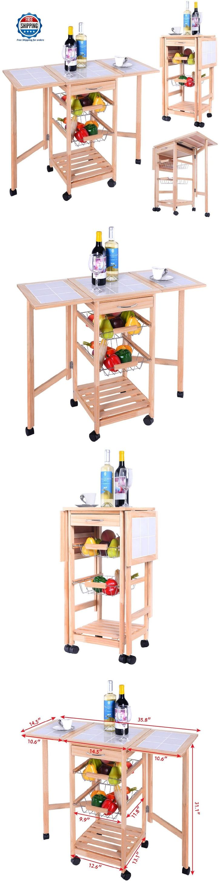 bar carts and serving carts 183320 kitchen dining serving cart rolling storage utility portable island - Dining Room Serving Carts