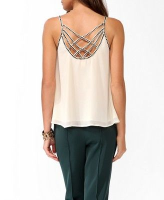 Beaded Strappy Swing Cami | FOREVER 21 - 2025101982