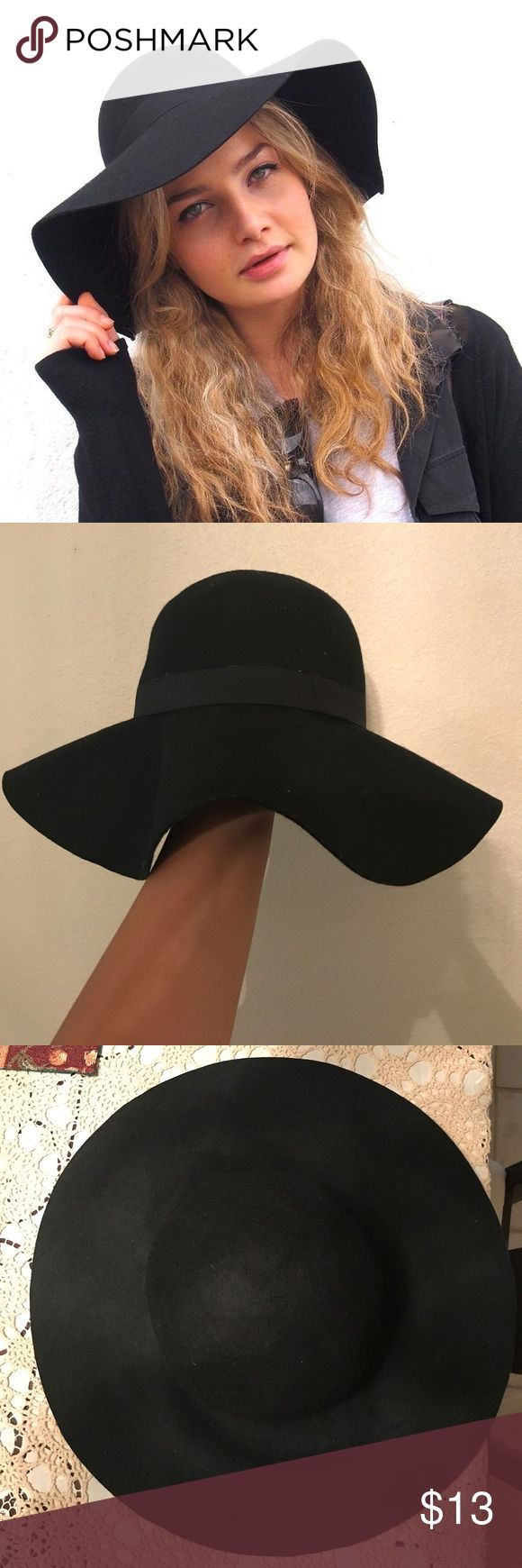 Black Floppy Hat Cute black floppy hat from Cotton On. Great accessory to have in your closet! Only worn a couple times. Cotton On Accessories Hats