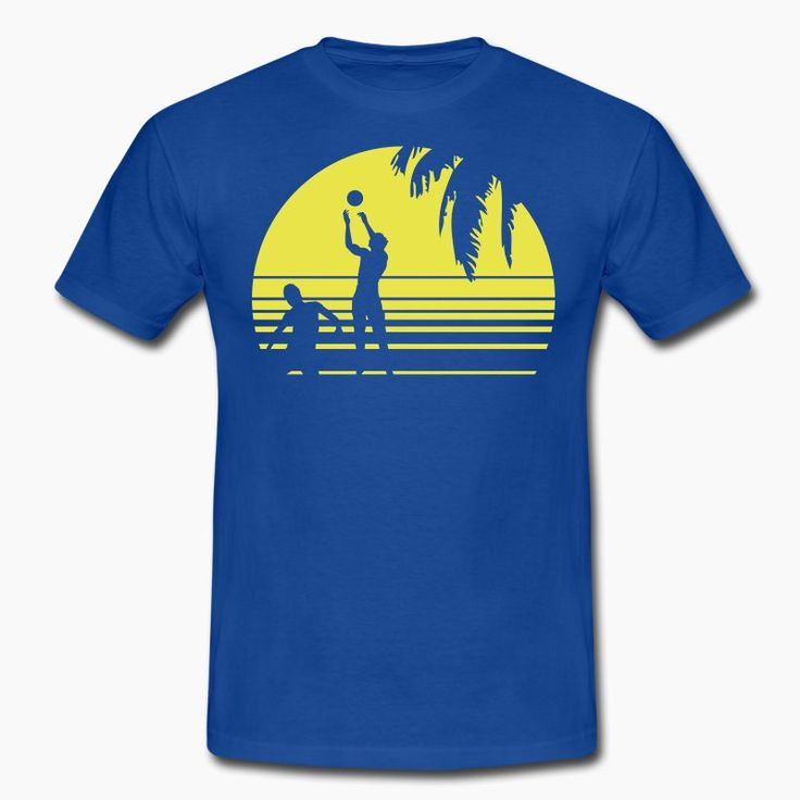 BEACH VOLLEYBALL SUNSET PALME 1C T-shirts - T-shirt Homme