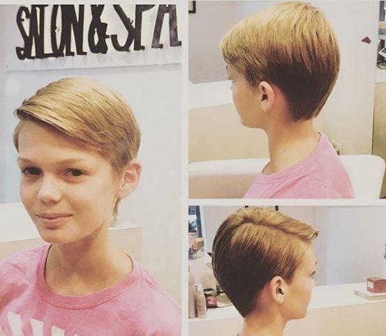 Boys Cut For Girls Y Girls Hair In 2019 Girl Haircuts Hair Cuts