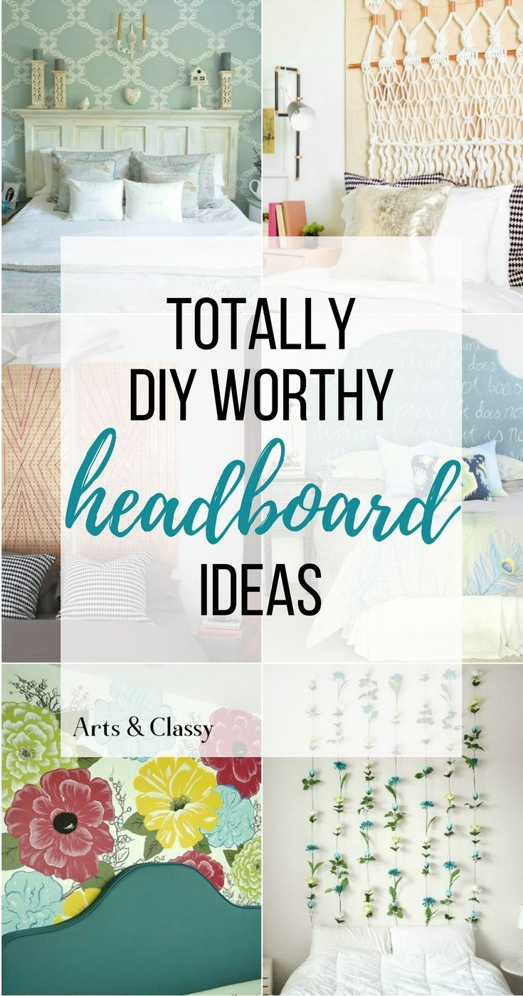 You're going to love these DIY headboards. How to make your own custom headboard, easily and inexpensively. Or give the faux headboard look a try, with rental-friendly options.