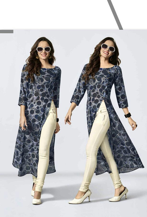 Top Dot dusk long casual Kurti Catalog http://www.jhumarlalgandhi.com/portfolio/top-dot-dusk-long-casual-kurti-catalog/ Contact on +919712677711