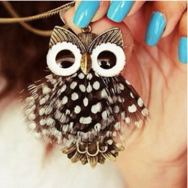 Owl necklace from accessorize :)