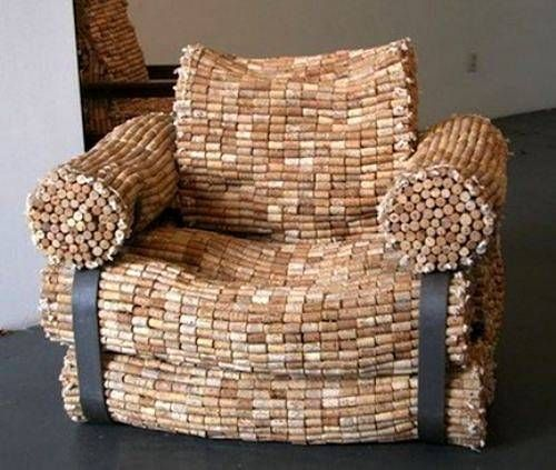 Sillon con corchos de botella.: Ideas, Recycled, Wine Corks Crafts, Wine Bottle, Corks Chairs, Furniture, Drinks, Diy, Corks Projects