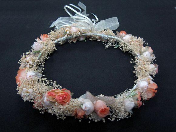 Corona de comunión de niña hecha a mano
