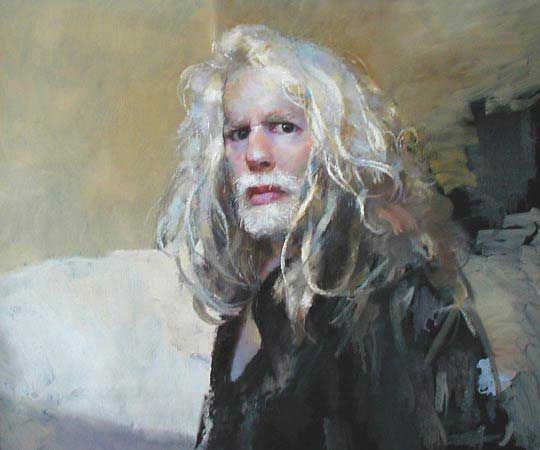 Robert Lenkiewicz. This was painted when the artist was in hospital and I feel it captures something of the acknowledgement of his own mortality