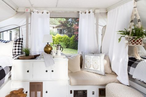 A tour of our pop - up camper and some recent updates to the traveling vacation home. Includes new floors, bedding and some accessories.