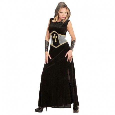 Disfraz de guerrera medieval largo. Elegante modelo de reina o princesa medieval. Contiene vestido largo con capucha y muñequeras.  27,95€  #disfraz #medieval #mujer #adulto #medievo #edad #media #princesa #reina #disfrazmedieval #reinamedieval #princesamedieval #capucha #guerrera #guerreramedieval