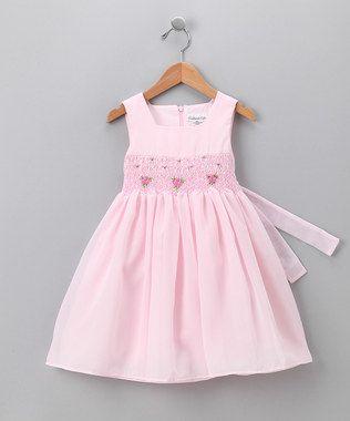 Sweet smocked dress for older girl.