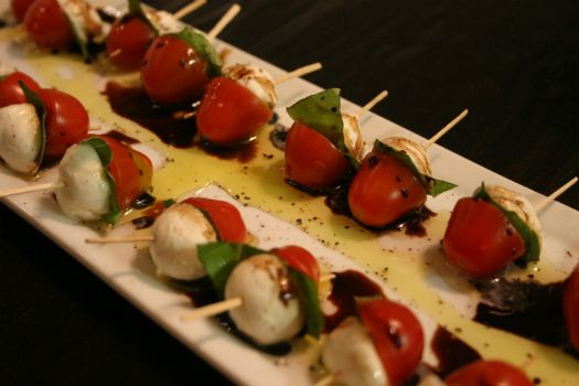 mint love social club: caprese bites