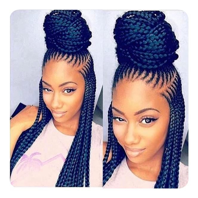 95 Best Ghana Braids Styles For 2020 Style Easily In 2020 Hair Styles Braid Styles African Braids Styles