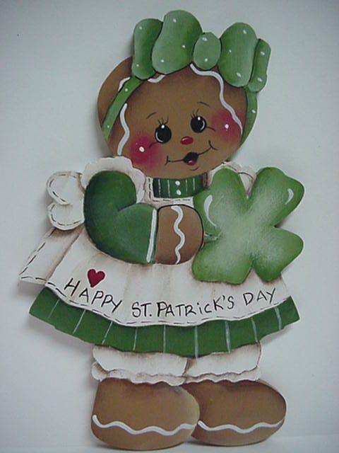 HP~~Gingerbread Girl~~St. Patrick's DAY  ~~  Fridge MAGNET